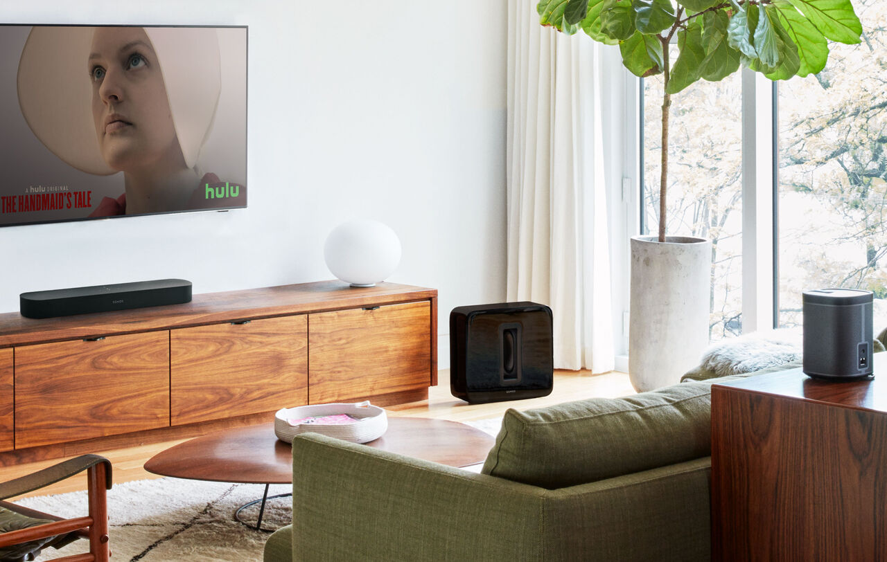 Beam The Smart Soundbar For Your Tv Sonos Pre Wiring A Home Theater Add Surround Sound Without Wires Create