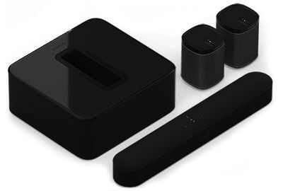 5.1 Surroundsystem med Beam & Play:1