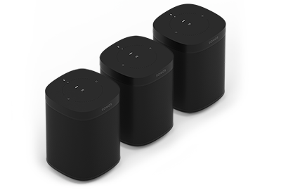 Sonos One-pakke for tre rom