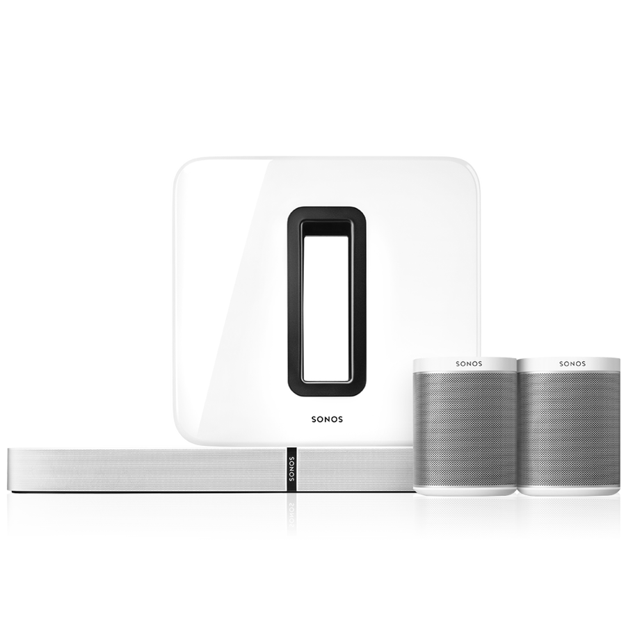 5.1 Surround Sound Package with Playbase white