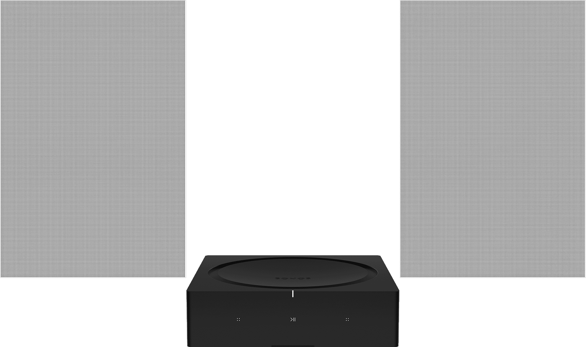 In-Wall Speakers & Amp Set - Architectural Speakers - Customizable Grilles - Sonos