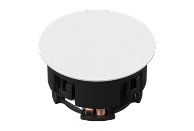 In-Ceiling Speakers - Pair - Powered by Amp - Architectural Speakers - Customizable Grilles - Sonos