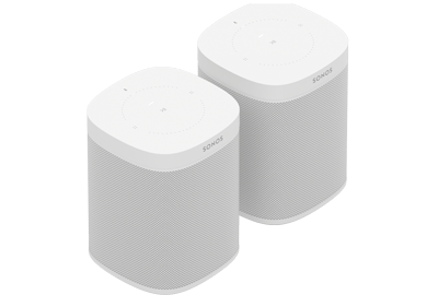 Sonos One Smart Speakers (Gen 2) - Pair - Wireless Speaker - Google Assistant & Amazon Alexa Voice Control - AirPlay Compatible - White - Sonos