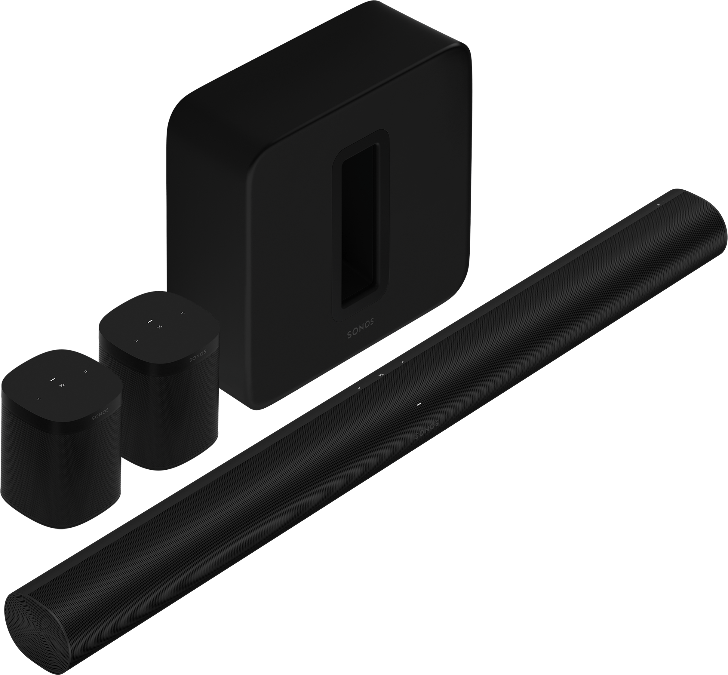 5.1.2 Surround Set with Sonos Arc, Sub, & One SL - Black