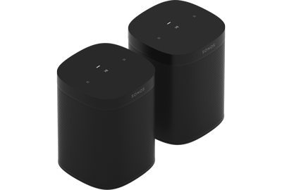 Sonos One SL Wireless Compact Speakers - Pair - WiFi Enabled - AirPlay 2 Compatible - Humidity Resistant - When You Don't Need Voice Control - Black