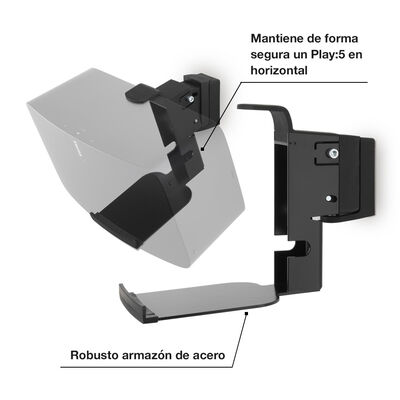 Dos soportes de pared Flexson para Play:5 (horizontal)
